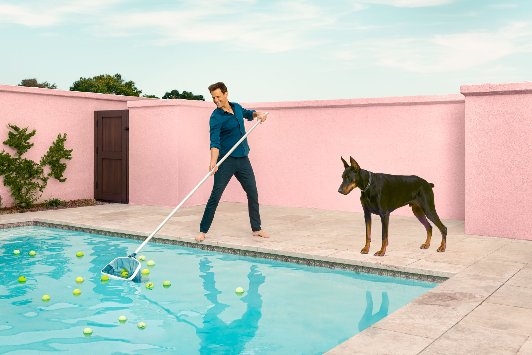 Kremer Johnson - Los Angeles Photographer - Doberman Pool Tennis Balls