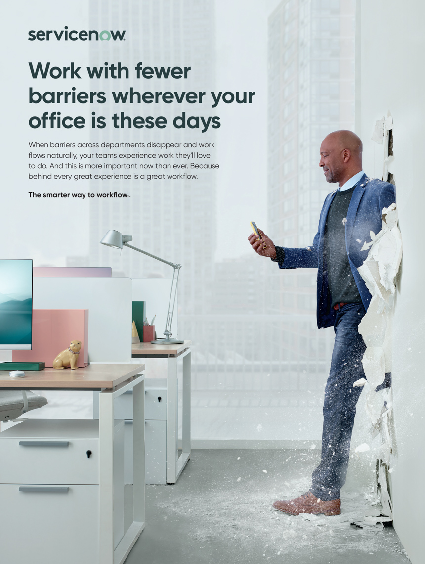 Kremer Johnson - Advertising Photographer - ServiceNow Print Campaign