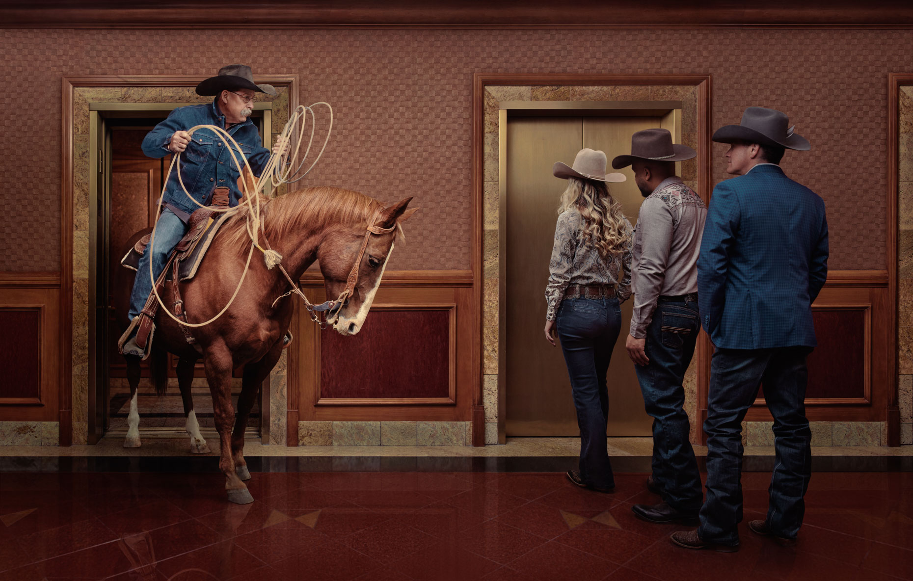 Kremer/Johnson - Conceptual Advertising Photographer - Las Vegas Convention and Visitor Authority - Wrangler National Finals Rodeo 2019 Ad