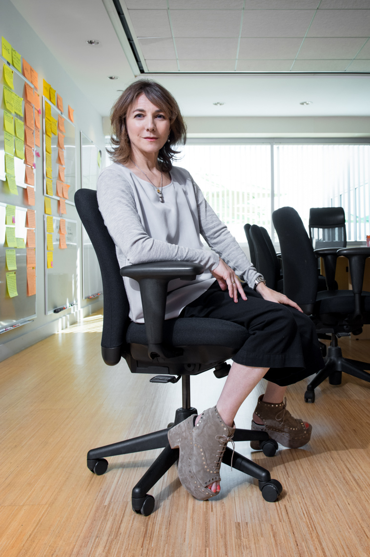empire-showrunner-ilene-chaiken-in-her-office-at-fox