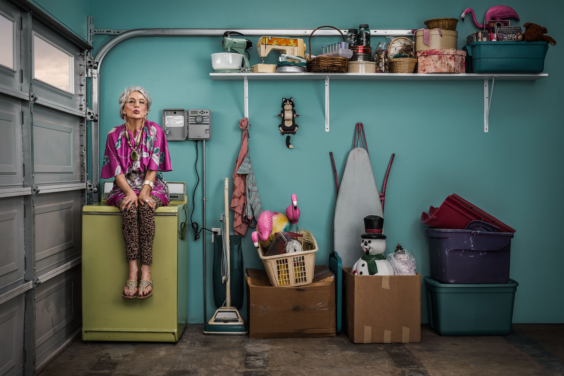 SNWA-campaign-portrait-of-sexy-old-lady-in-garage